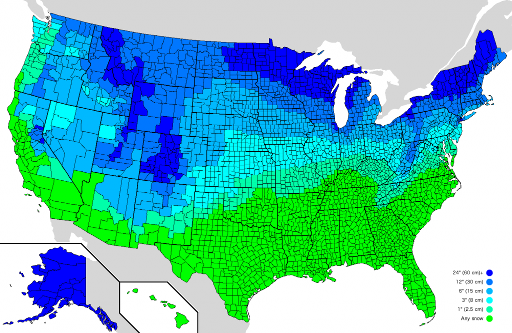 how-much-snow-to-close-school-us-map